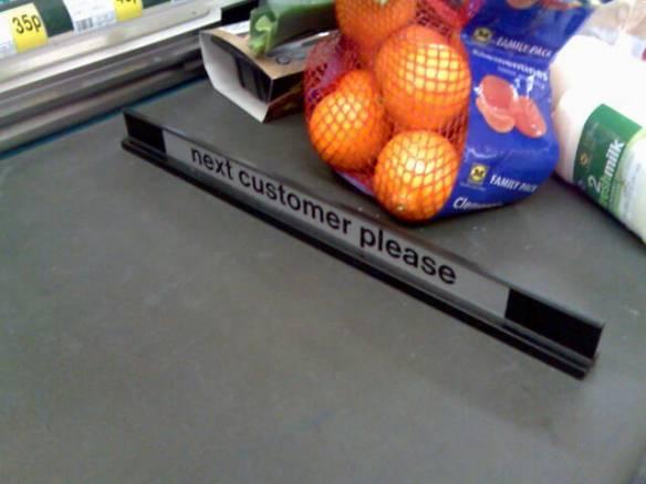 checkout divider