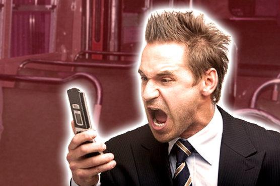 shout at phone