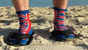 British socks and sandals