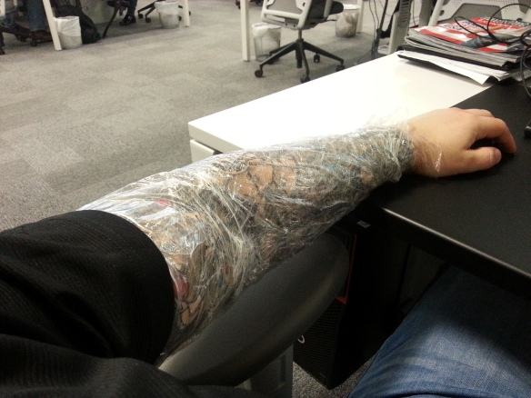cling film arm