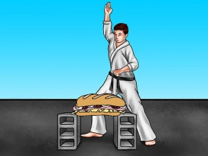 karate chop sub