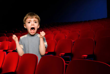 cinema shouting child