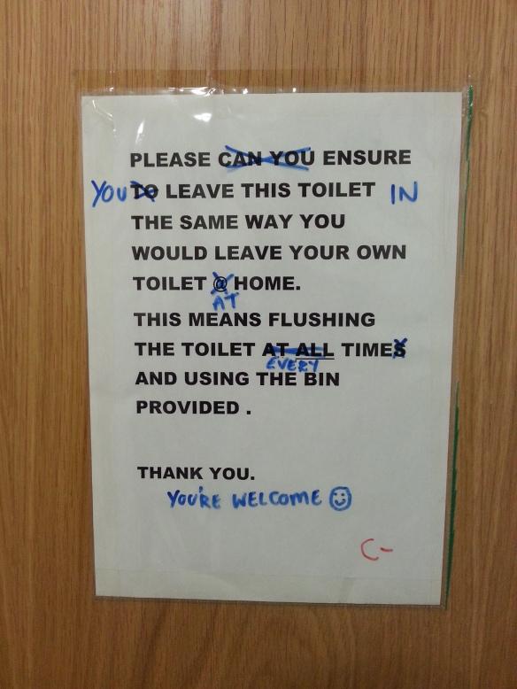 Toilet Grammar